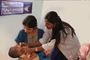 Polio Vaccination Camp at Quality Diagnostics